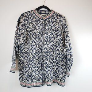 Dale of Norway Fair Isle Button Up Cardigan Large